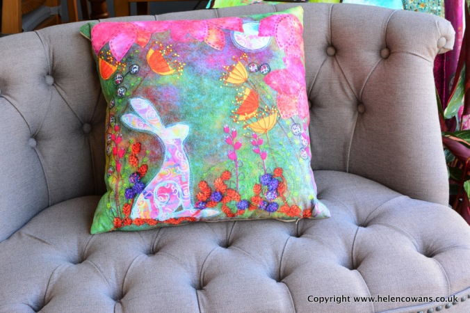 Autumn Moon Gazer Hare Cushion Commerical